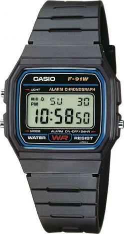 CASIO Digital Watch Black F91W1CR