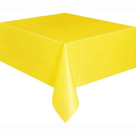 Κίτρινο πλαστικό τραπεζομάντιλο, 9ft x 4,5ft