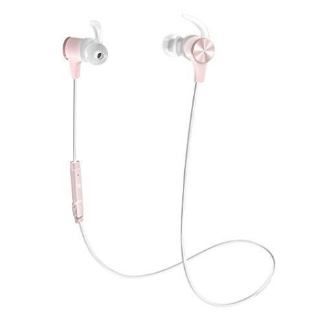 TaoTronics Headphones Bluetooth 5.0 Wireless aptX Stereo Earbuds IPX6 Waterproof Sports Earphones (pink)