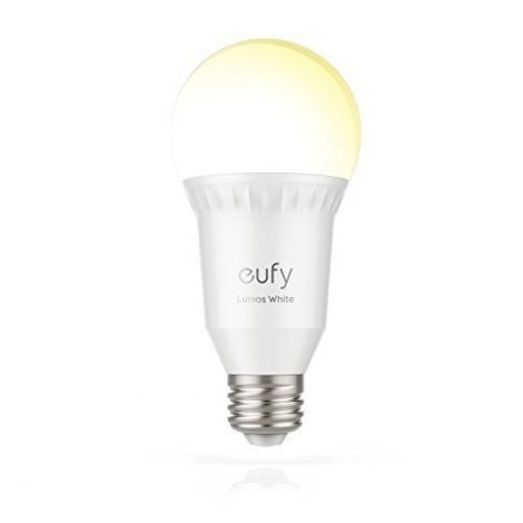 Eufy Lumos Smart LED WiFi Bulb, E27 Dimmable White LED Lamp (2700 K), No Hub, Compatible with Google Home App, Alexa and IFTTT