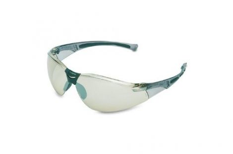 Honeywell A800 Sporty Safety Eyewear Frame with Silver In/Out Anti-Scratch Lens  Grey (1015350)