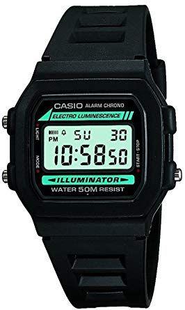 Casio W-86-1VQES Men's Digital Resin Strap Watch
