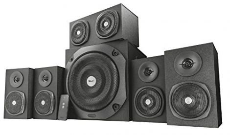 Trust Vigor 5.1 Wood Speaker System with Sub Woofer, black (22236)