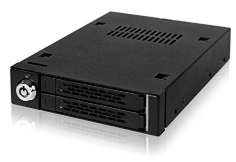 Icy Dock 2.5-inch Dual Bay Sata Mobile Rack for 3.5-inch Device Bay (MB992SK-B)