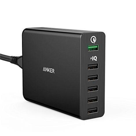 Anker 60W 6-Port USB Charging Hub Quick Charge 3.0 Compatible (AK-A2063211)