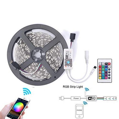 5m Smart RGB LED Strip Lights (Work for Alexa and Google Home)