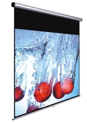 ΟΘΟΝΗ ΠΡΟΒΟΛΗΣ TOIXOY 180Χ180 BLACK RED  (BR00107)