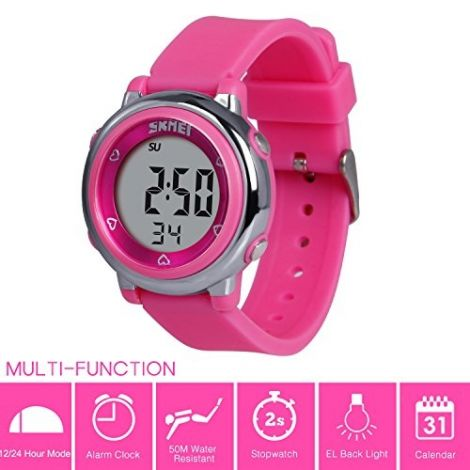 Hiwatch Waterproof Digital Kids Sport Watch with Chronograph-Pink (HI131834)