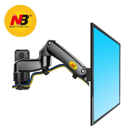 """NB North Bayou F150 17-27"""" Monitor Wall Mount TV Wall Bracket with Adjustable Gas Spring Full Motion LED LCD Moniter Arm (Black)"""