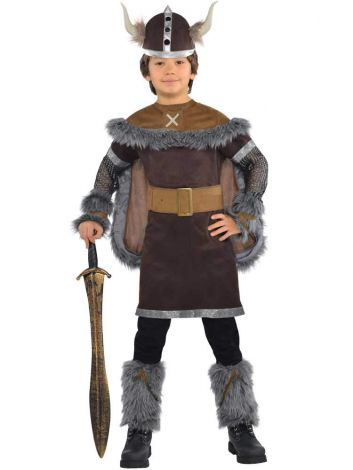 Viking warrior boys costume (6-8 Years) (PKT) (999661)