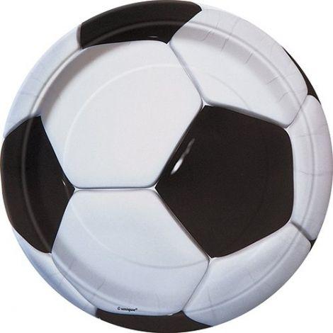 Πιάτα παρτυ ποδοσφαίρου 18cm, πακέτο 8