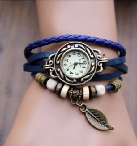 Wristwatch LEAF blue