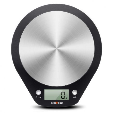 Accuweight Digital Kitchen Scale with LCD Display, 5 kg, Incl. Battery
