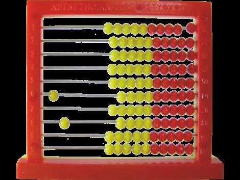 ΑΡΙΘΜΗΤΗΡΙΟ ΑΒΑΚΑΣ 100 ΧΑΝΔΡΩΝ ΕΠΙΤΡΑΠΕΖΙΟ BLACK RED  (KS55564)