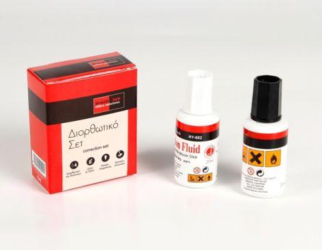ΔΙΟΡΘΩΤΙΚΟ SET BLACK-RED(20ml) (BR00400)