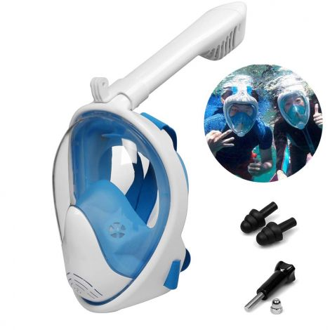 WeyTy Full Face Snorkel  Mask with 180° Field of View Silicone Anti-Fog  Technology (L-XL)