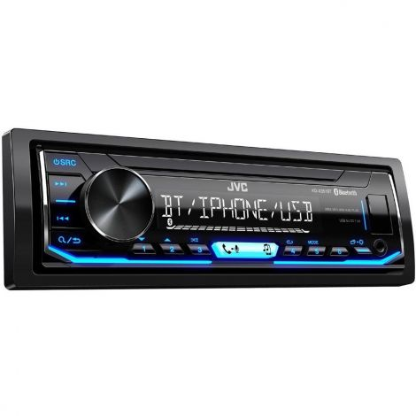 JVC X351BT Digital Media Receiver with Bluetooth Handsfree Calling and Audio Streaming – Black