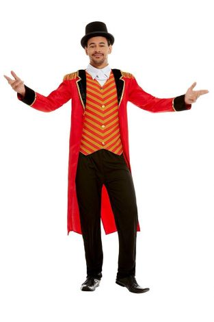 Deluxe ringmaster Men costume,red/size XL (51016XL )
