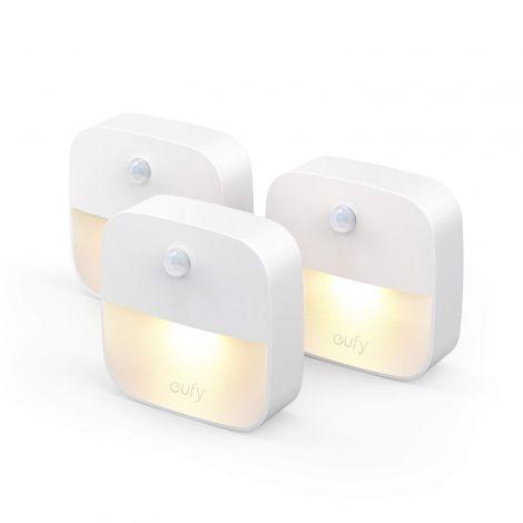 Eufy Lumi 3 Pack LED Nightlight with Motion Sensor Warm White LED Lights – Auto On/Off (T1301)