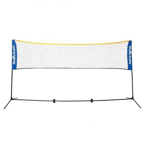 Niuniu Daddy Portable Badminton & Tennis Net Mini Quickstart Tennis Training Set for Juniors, Net 10/14/17ft wide