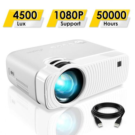 ELEPHAS Projector, GC333 Portable Projector with 4500 Lux and Full HD 1080p