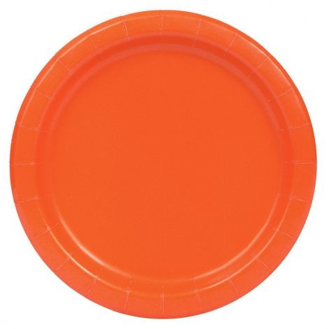 Πορτοκαλί πιατάκια 23cm, πακέτο 16