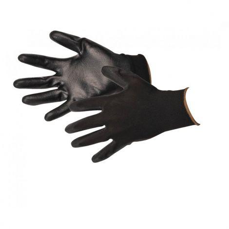 Warrior Γάντια Νάιλον Εργασίας Μαύρα XL Σετ 12 (NB10)