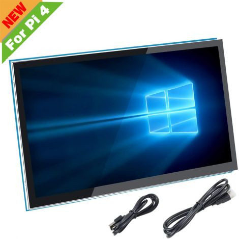"""Screen For Raspberry Pi 4 Capacitive 5"""" HDMI Touch Screen Monitor - 800 x 480 HD LCD Screen (Support Pi 4 and Pi 3B +, Windows)"""