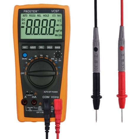 Proster Digital Multimeter With LCD Screen (VC97)