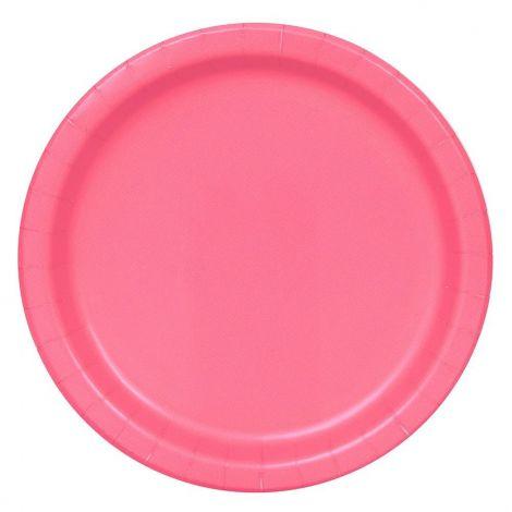 Πιατάκια πάρτυ ροζ 23cm, 16 τεμ.