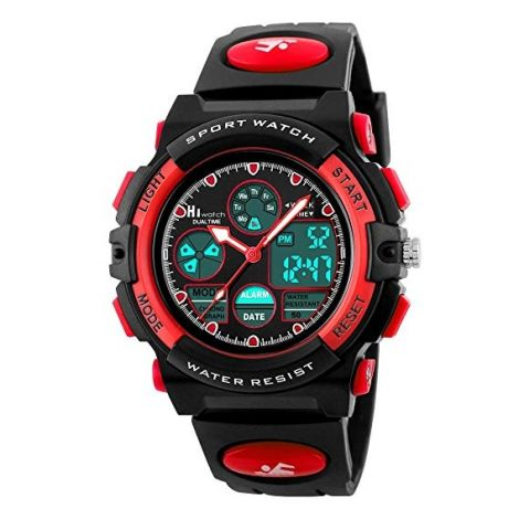 Hiwatch Waterproof Digital Kids Sport Watch with Chronograph-Red (HI131834)
