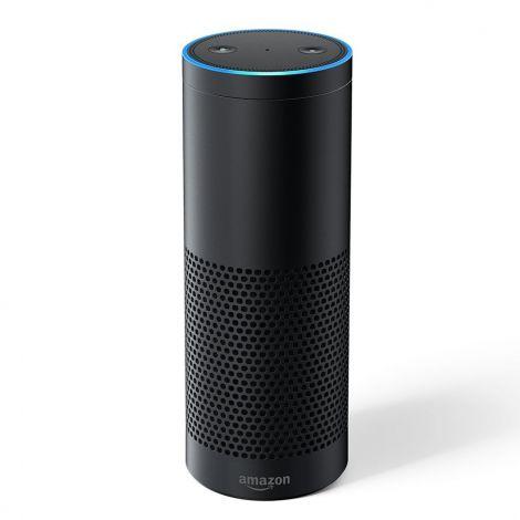 Echo Plus – With built-in smart home hub, Black - International Version, EU power adaptor