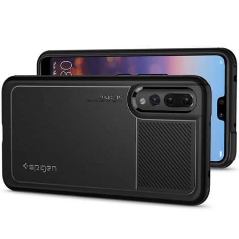 Spigen Case Compatible for Huawei P20 Pro, Slim Camera Protection Air Cushion Technology (Black)