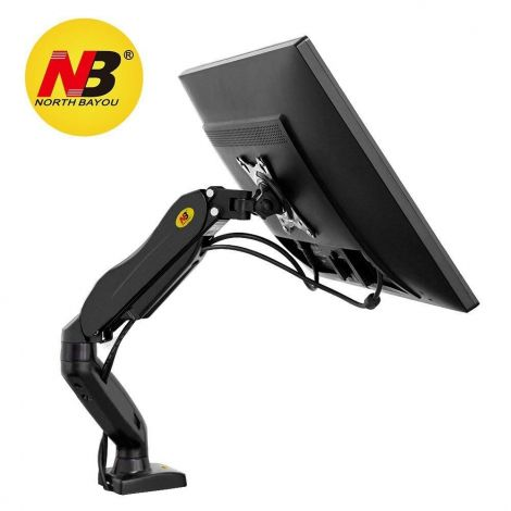 "NB North Bayou 17""-27"" Monitor Arm Desk Mount with Gas Spring Stable Screen Stand Bracket Free Rotatable 360° VESA 75, 100 mm"