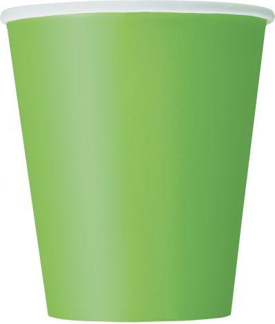 Ποτηράκια πράσινα (lιme) ,χαρτιού 9oz, 14 τεμ.