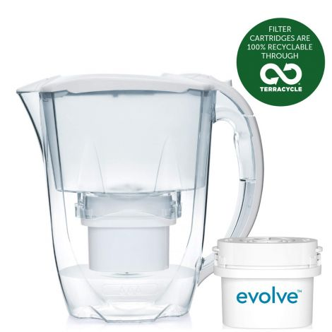 Aqua Optima Oria Filter Jug with 1 x 30 Day Evolve filter - 1 Month Pack - White
