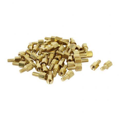 Male Female Screw PCB Standoffs Hexagonal Spacers M3x5mm+6mm 50 Pcs