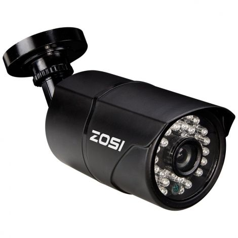 "ZOSI 1/3"" CCTV Home Surveillance Outdoor IR Cut Bullet Security Camera Color Day Night Vision Weatherproof 36PCS Infrared LEDs 100ft IR Distance"