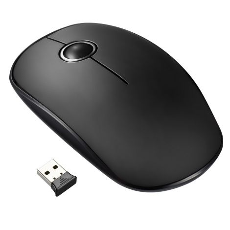 VicTsing Wireless Mouse 2.4G 1600 DPI - Black (VT-0412-LM)
