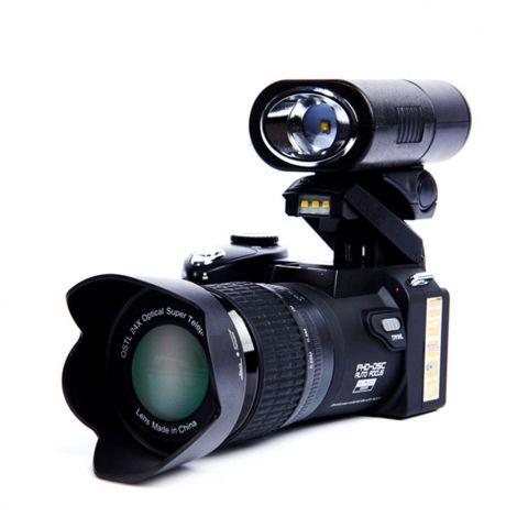 CamKing D7300 FHD 1080P 24X Digital SLR DSLR Camera Kit with Three Lens, Beam and Tripod