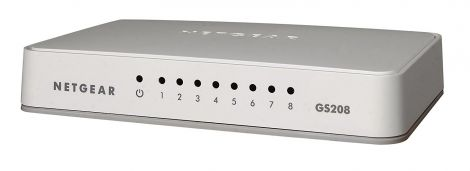 NETGEAR 100UKS 8 Port Gigabit Ethernet Desktop Switch (GS208)