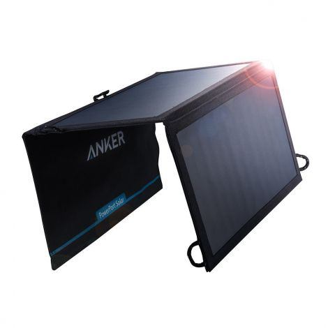 Anker Ηλιακός Φορτιστής με Πτυσσόμενα Πάνελ 15W 2 USB (AK-A2422011)