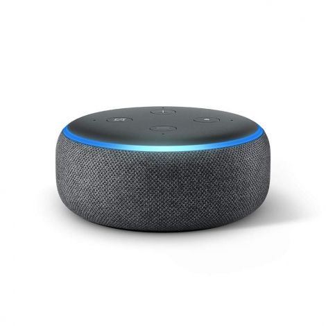 Echo Dot (3rd Gen) - Smart speaker with Alexa, Charcoal Fabric - International Version (EU Adaptor)