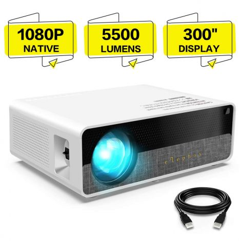 ELEPHAS Projector Q9 Native 1080P HD