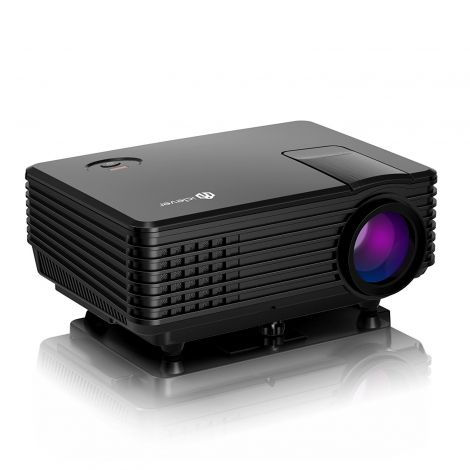 iClever Portable LED Projector HD with HDMI USB VGA AV Output (IC-P01)