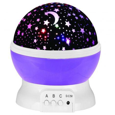 LED Φωτεινός Προβολέας Αστεριών - Μώβ