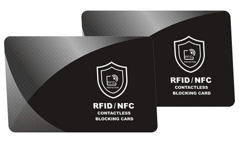 SmartProduct RFID Blocking Card, NFC Contactless Protection Wallet (Pack of 2)