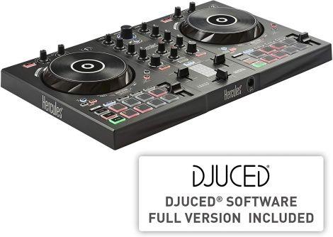 Hercules DJControl Inpulse 300, 2-Deck DJ Controller, Beatmatch Guide, IMA, 16 Pads, Integrated Sound Card, DJ Academy Sound Card, PC/Mac