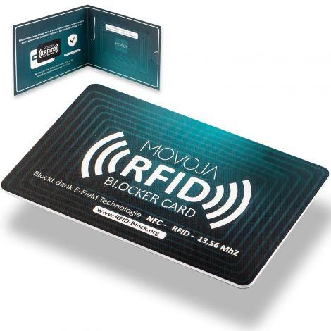 RFID Blocker Card E-Field Technology Increased protection radius