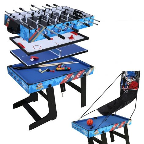 HLC 5 in 1 Multi-game Table,Football,Hockey,Table Tennis,Snooker,Basket Shot,4Ft